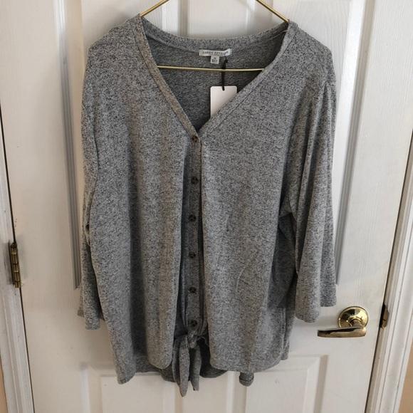 Green Envelope Gray V Neck Sweater Sz 2X